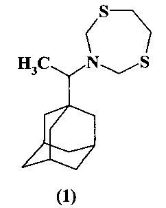 Способ получения 3-[1-(1-адамантил)этил]-1,5,3-дитиазепана и его применение в качестве средства с фунгицидной активностью