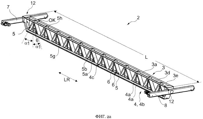 Подъёмный кран, в частности мостовой или козловый кран, с крановой балкой