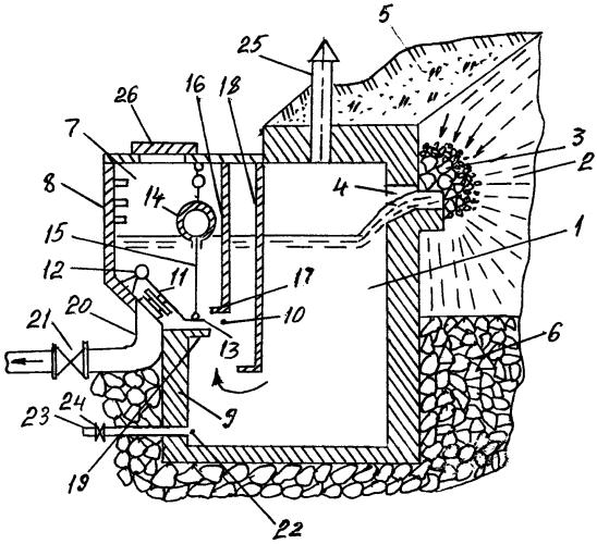 Гидротехническое сооружение для приема воды из родника