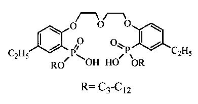 Состав экстракционно-хроматографического материала для селективного выделения и очистки прометия-147 от сопутствующих редкоземельных элементов из азотнокислых растворов