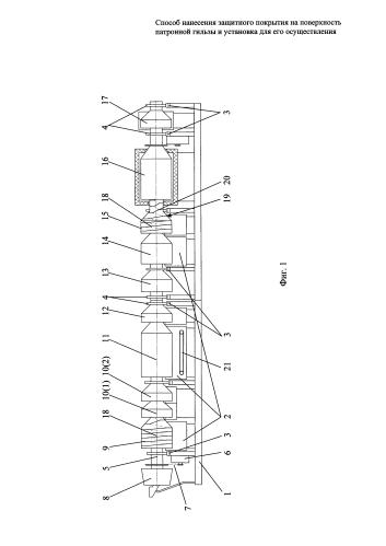 Установка для нанесения защитного покрытия на поверхность патронных гильз