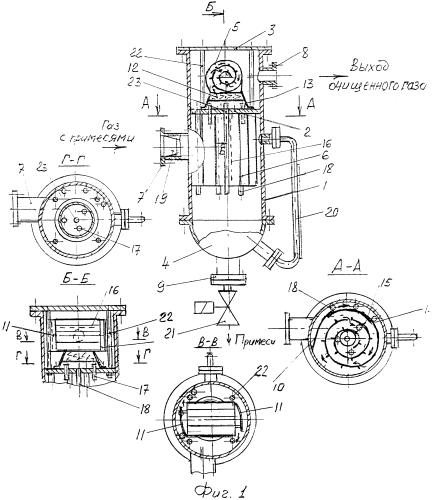 Сепаратор газовый вихревого типа