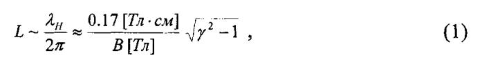 Измеритель поперечных скоростей релятивистских электронов в сильном магнитном поле