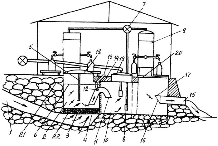 Гидротехническое сооружение для сифонного водоотвода подземной родниковой воды