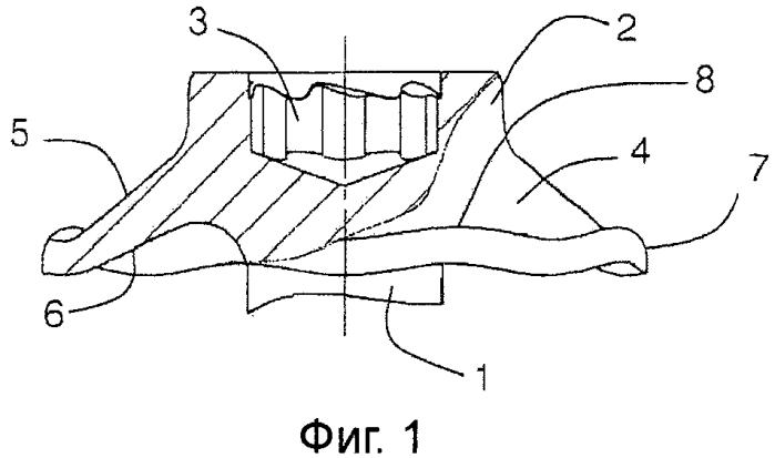 Винт, включающий в себя головку винта, стержень винта и конический волнистый фланец