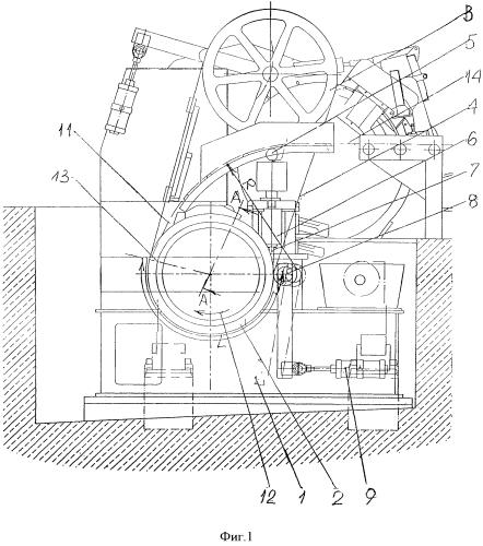Литейная роторная машина для получения медной заготовки