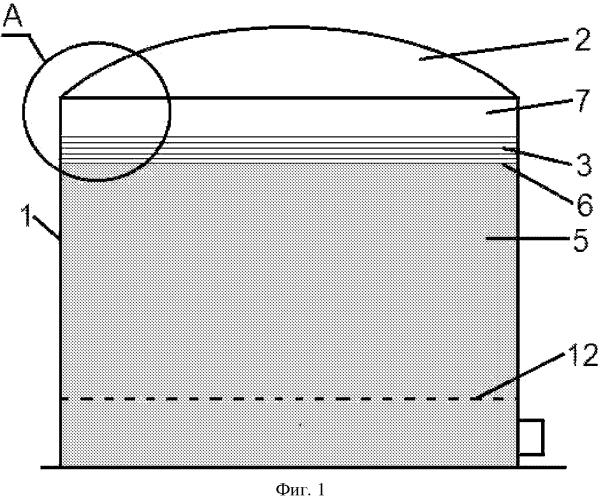 Резервуар для хранения нефтепродуктов и плавучий элемент для указанного резервуара