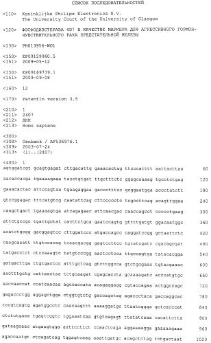 Фосфодиэстераза 4d7 в качестве маркера для агрессивного гормон-чувствительного рака предстательной железы