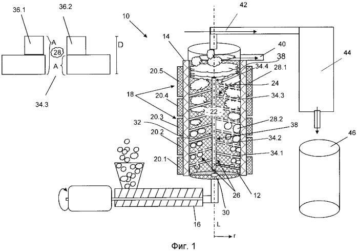 Реактор и способ для по меньшей мере частичного разложения и/или очистки пластмассового материала
