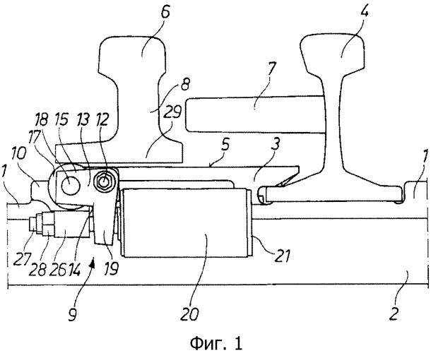 Роликовое устройство для острякового рельса стрелочного перевода