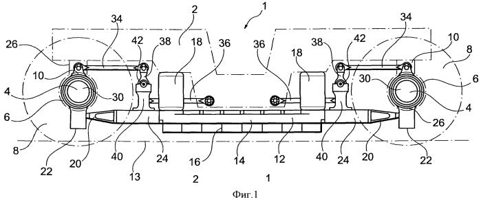 Колесная тележка железнодорожного вагона, содержащая устройство торможения токами фуко
