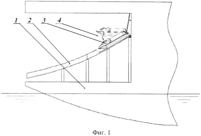 Устройство быстрой эвакуации персонала с надводных объектов океанотехники в ледовых условиях (варианты)
