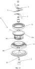 Режущий инструмент, режущий блок, корпус, резервуар, приводной блок, а также вертикальный миксер