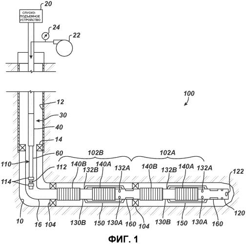 Гидравлическое устройство размещения внутренней колонны гравийного фильтра