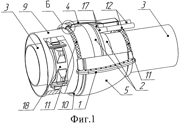 Устройство для защиты резиновой манжеты на переходе трубопровода