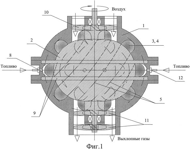 Многокамерный турбо-роторный двигатель