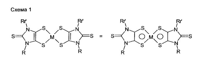 Применение арил-или гетероарил-замещенных дитиоленовых металлокомплексов в качестве ик-поглотителей