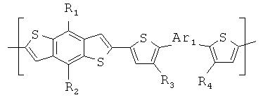 Полимеры бензодитиофена и их применение в качестве органических полупроводников