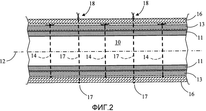 Устройство обнаружения утечки и покрытие, включающее в себя такое устройство обнаружения и предназначенное для покрытия элемента транспортировки или хранения текучей среды