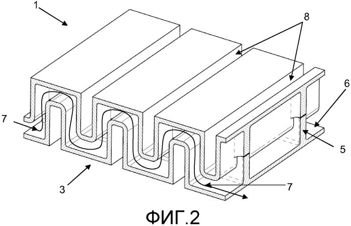 Теплообменная система с канальной пластиной