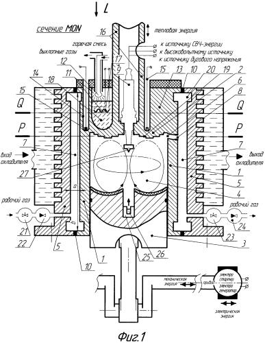 Тепловой двигатель с бесклапанным газораспределением (варианты)