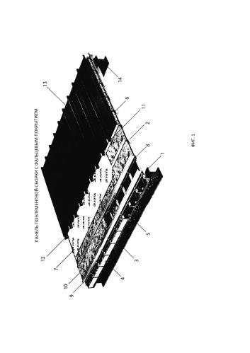 Панель поэлементной сборки с фальцевым покрытием