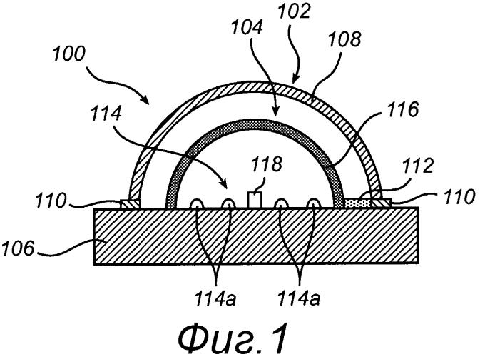 Сид модуль модифицируемой люминесцентной трубки, расположенный внутри герметизированной стеклянной трубки