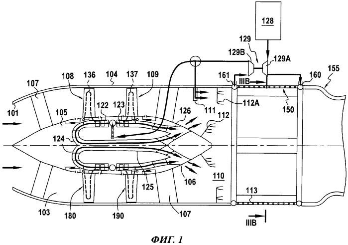 Комбинированный турбопрямоточный реактивный двигатель