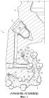 Буровое долото для твердых пород с лабиринтным устройством защиты уплотнения/подшипника