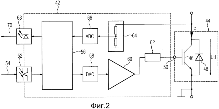 Схемное устройство для переключения тока и способ работы полупроводникового силового переключателя