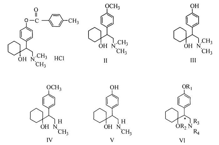 Полиморфы 4-[2-диметиламино-1-(1-гидроксициклогексил)этил]фенил 4-метилбензоата гидрохлорида, способы их получения и использование