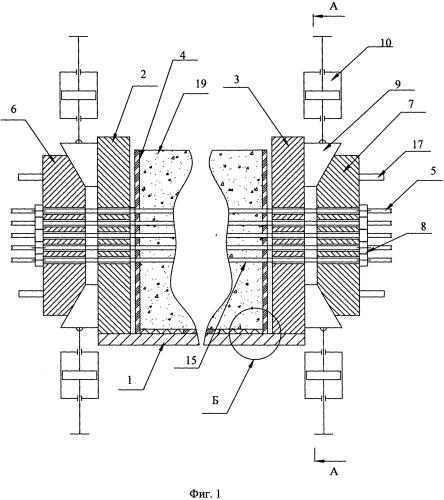 Устройство для изготовления предварительно напряженных железобетонных изделий