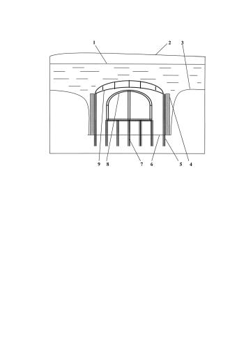 Способ устройства туннелемоста в подводном канале для преодоления мелководных преград