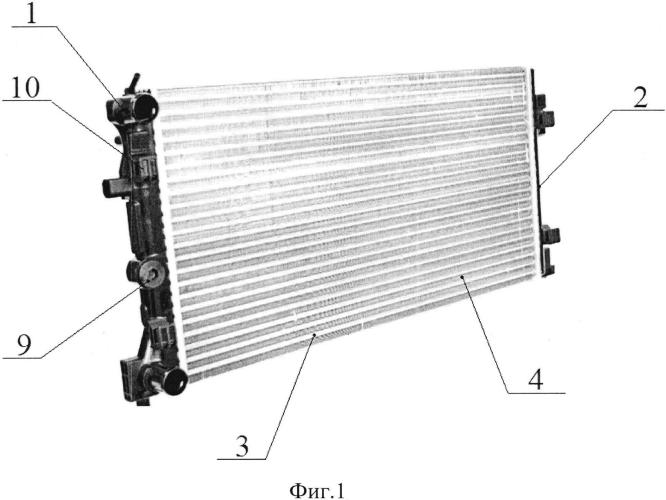 Радиатор системы охлаждения двигателя внутреннего сгорания