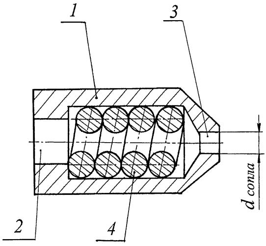 Струйная форсунка жидкостного ракетного двигателя малой тяги