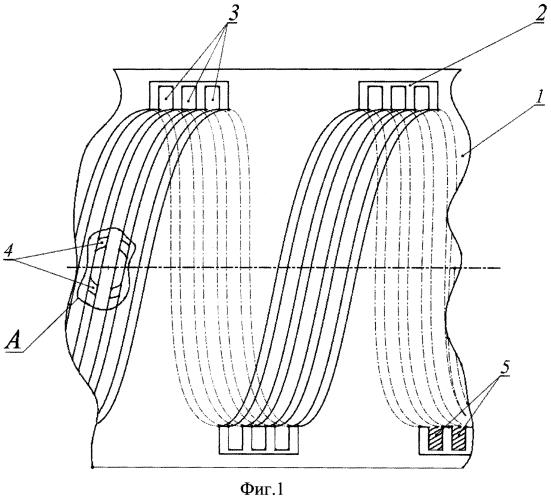 Устройство для интенсификации теплоотдачи в кольцевом спиральном канале