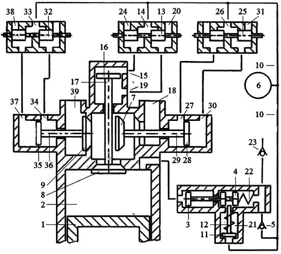 Способ реверсирования двигателя внутреннего сгорания реверсивным стартерным механизмом и системой пневматического привода трёхклапанного газораспределителя с зарядкой пневмоаккумулятора системы воздухом из атмосферы