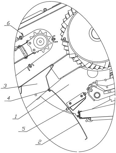 Устройство компенсации зазора между молотилкой и наклонной камерой зерноуборочного комбайна