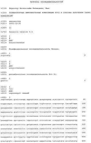 Поливалентные иммунногенные композиции pcv2 и способы получения таких композиций
