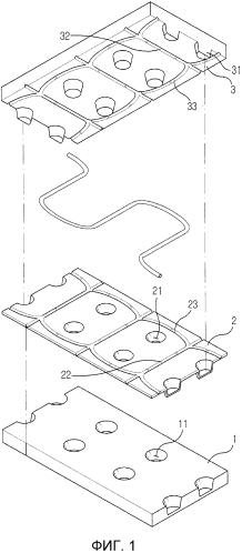 Сборная тротуарная плита, имеющая нагревательный провод