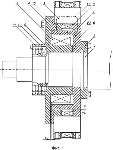 Опорный узел магнитного подвеса ротора