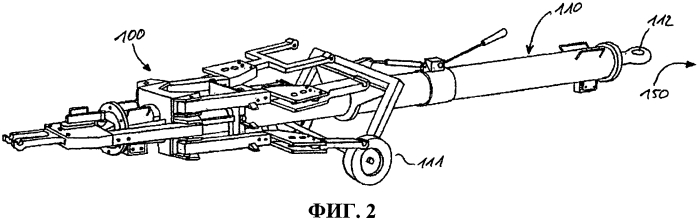 Буксировка самолета при помощи адаптера шасси (способ и устройство)