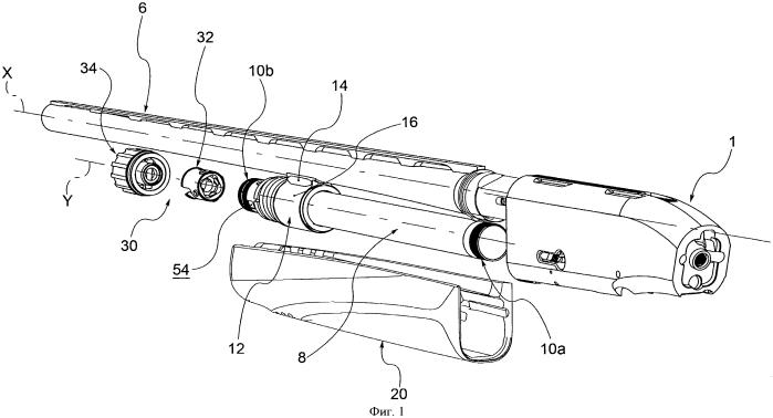 Спортивная или оборонительная винтовка с трубкой магазина для патронов