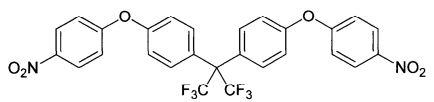 Способ получения 2,2-бис[4-(4-нитрофенокси)фенил]гексафторпропана под действием ультразвука