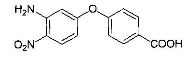 Способ получения 4-(3-амино-4-нитрофенокси)бензойной кислоты под действием ультразвука