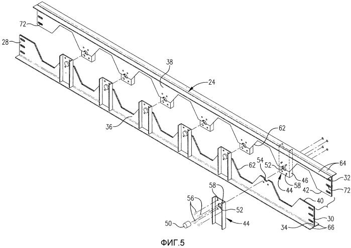 Устройство для поддерживания внутренних элементов массообменной колонны и способ его получения
