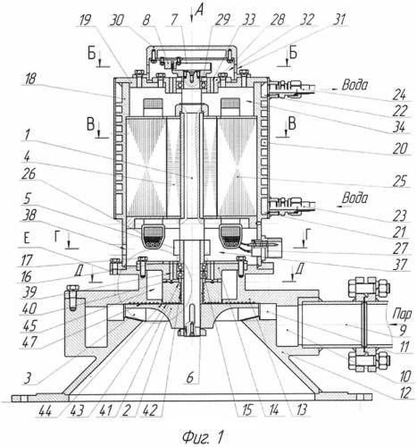 Высокооборотный турбогенератор с паровым приводом малой мощности