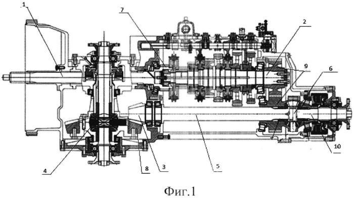 Привод главных передач транспортного средства
