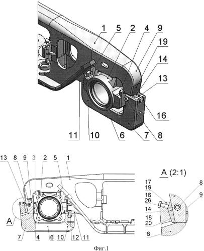 Конструкция соединения буксового узла с рамой тележки грузового вагона