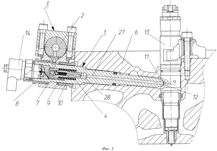 Устройство подачи жидкого топлива к форсункам двигателя внутреннего сгорания